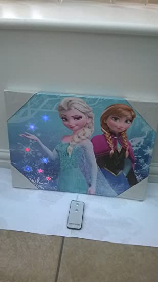 Disney Frozen Room Decor   LED Canvas Wall Art   Sisters Forever 11.5x 15.75