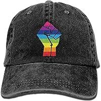 UMarsDeal LGBT - Gorra de Vaquero Unisex con diseño de Bandera de arcoíris