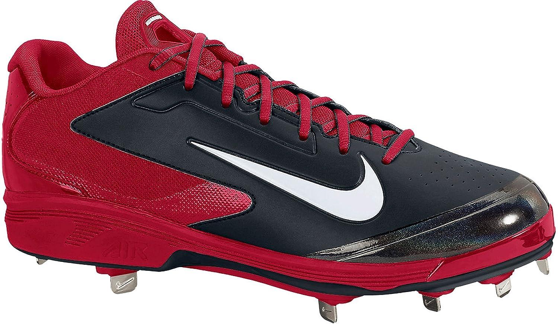 Nike Men 's Huarache PRO Low Metal Baseball Cleats B00EK91I80 Medium|レッド/ブラック レッド/ブラック Medium
