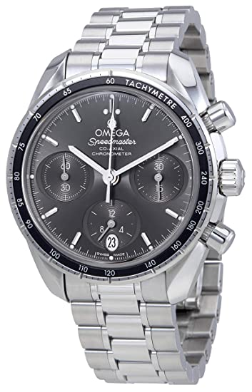9fc9eb1f857 Omega Speedmaster co-axial grigio quadrante cronografo automatico mens  orologio 324.30.38.50.06.001  Amazon.it  Orologi