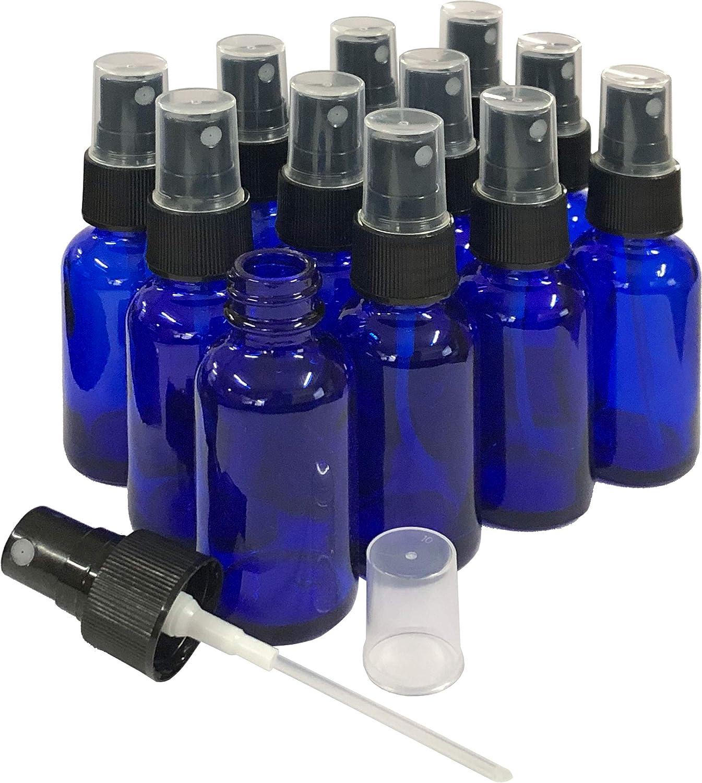 1oz Blue Glass Spray Bottles 12 Pack