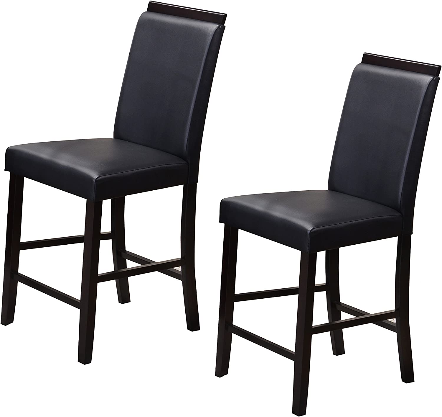 Kings Brand Furniture Counter Parsons Dining Chairs (Set of 2), Black, 24