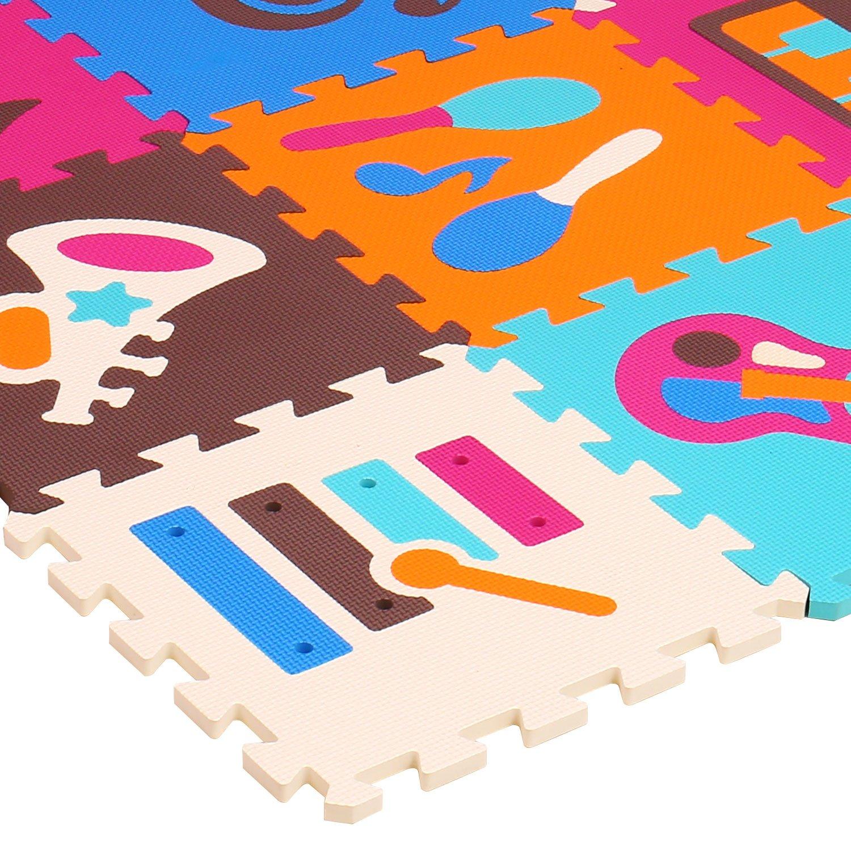meiqicool Eco-Friendly Eva Espuma bebé Piso alfombras Juego Mats Puzzle 9pcs 009