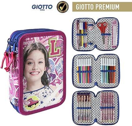 Soy Luna- Plumier Relleno con Giotto Premium (Artesanía Cerdá 2700000193): Amazon.es: Juguetes y juegos