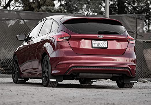 Focus St Mud Flaps >> Rek Gen Rally Mud Flaps Compatible W Ford Focus 11 Black Logo