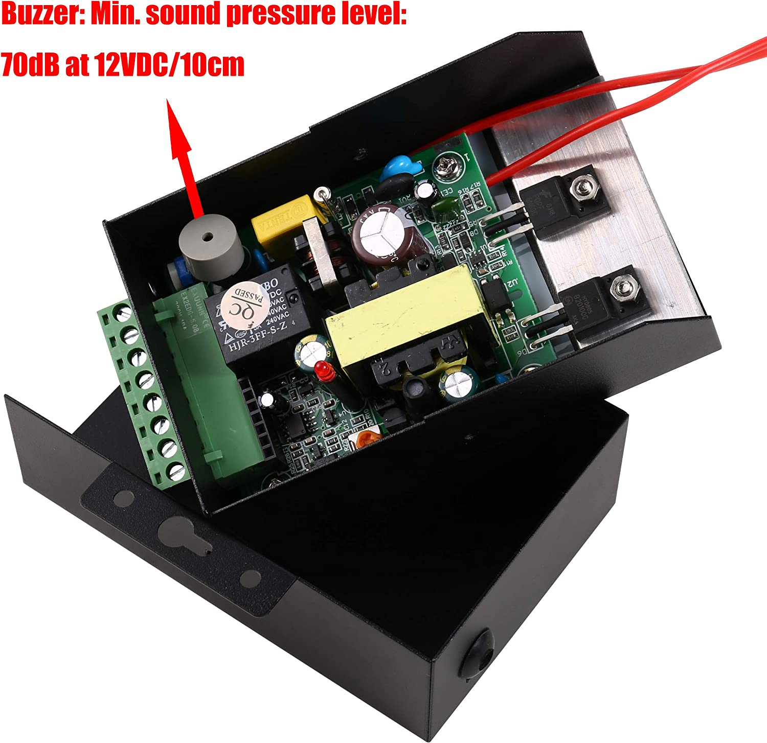 110-240vac To 12vdc Power Supply Controller Built-in Buzzer For Access Control System & Intercom Camera Home & Kitchen