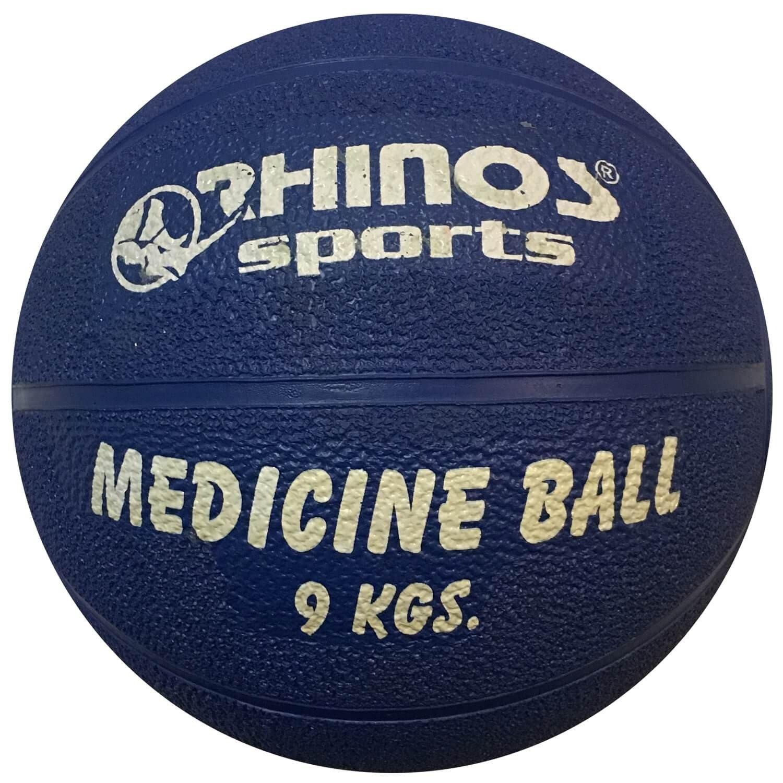Rhinos Sports – Balón medicinal, pelota 9 kg, Azul: Amazon.es ...