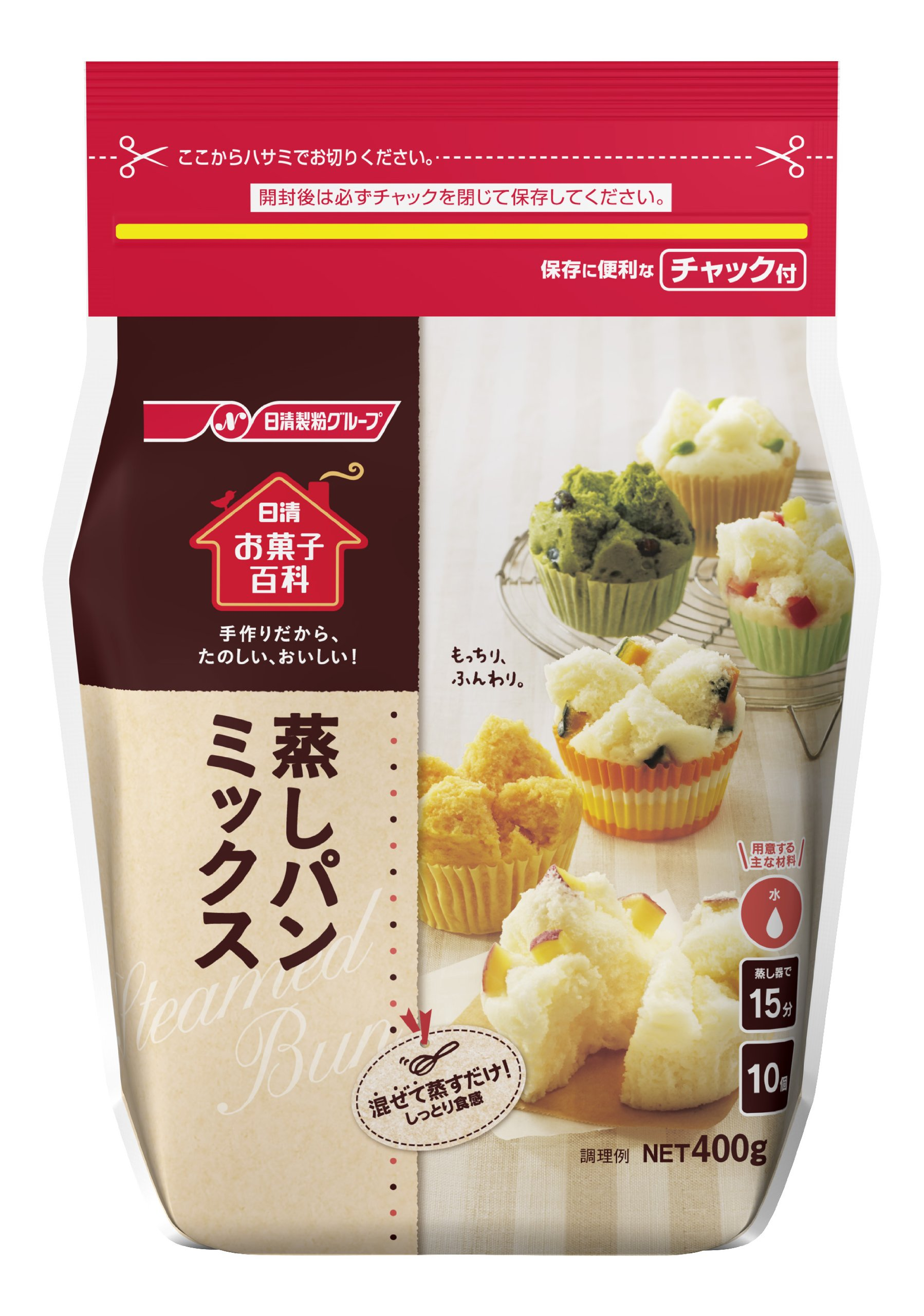 Nisshin Sweets Encyclopedia steamed bread mix 400gX12 pieces by Candy Encyclopedia