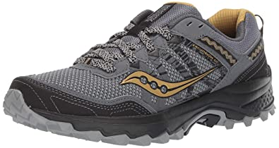 18dddfc417 Amazon.com | Saucony Grid Excursion TR12 Men 8 Silver | Gold | Trail ...