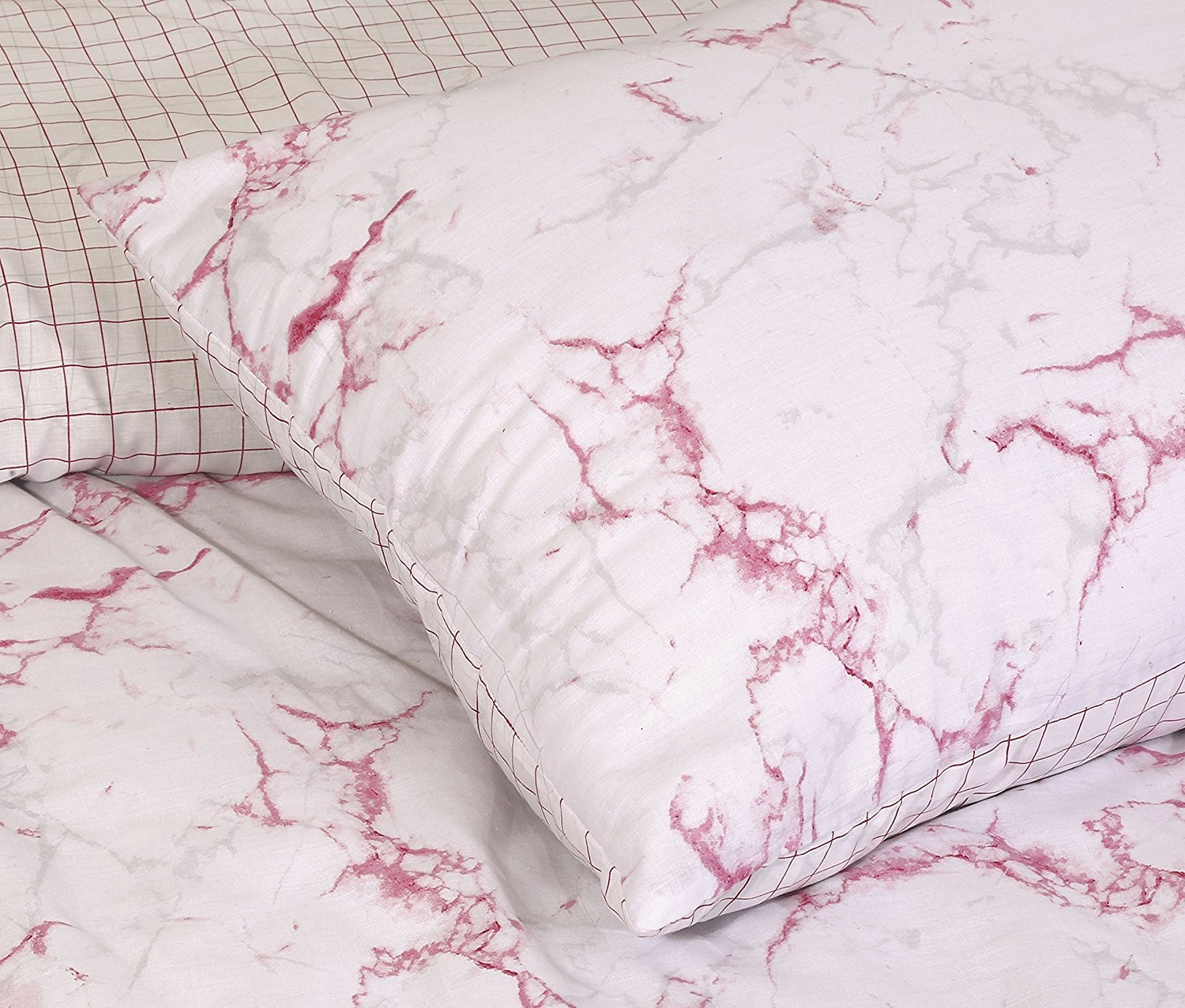 pieridae marble effect grey duvet quilt bedding cover and pillowcase bedding set add a splash of marble effect to your bedroom with our marble pink duvet