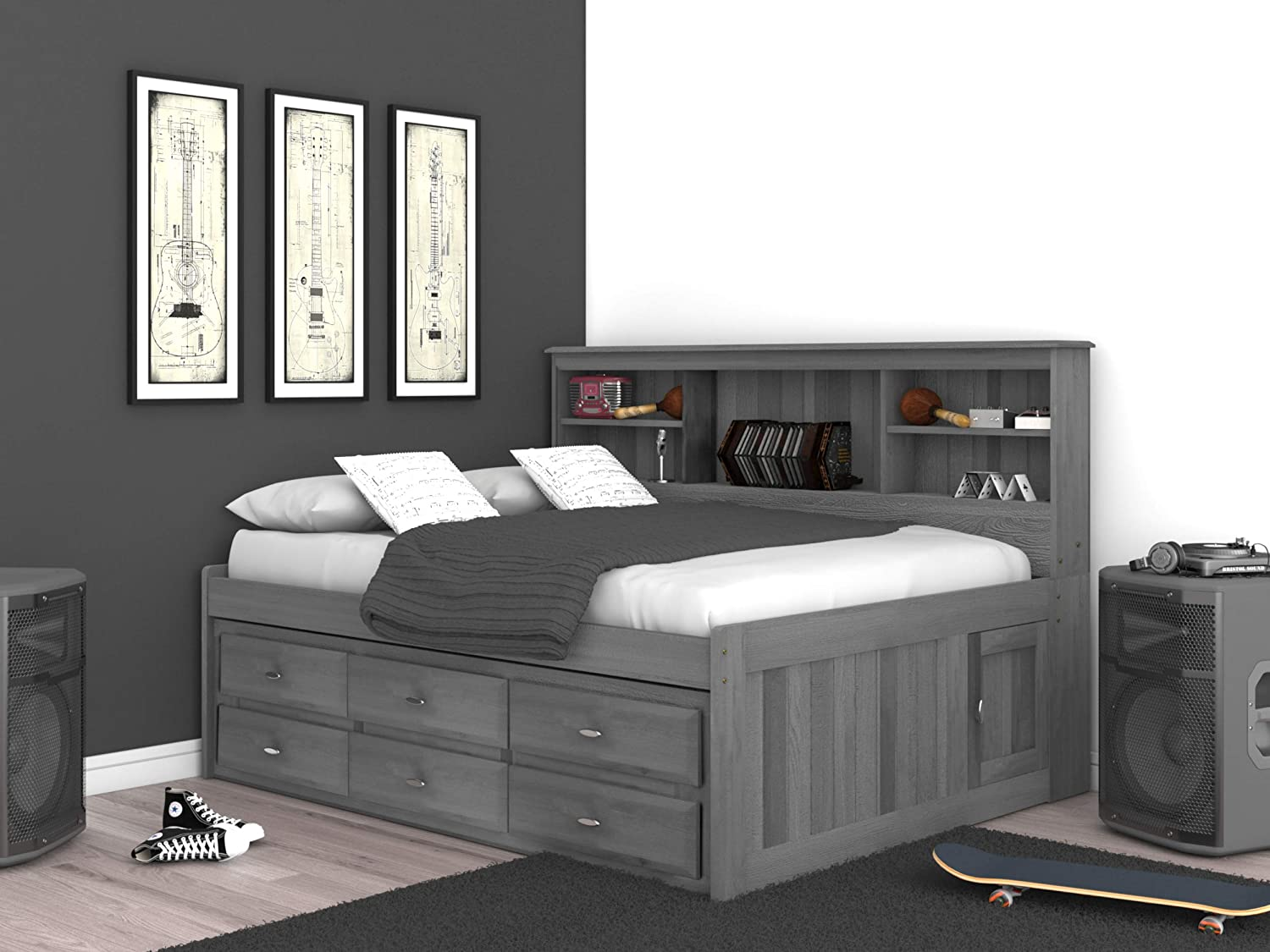 Discovery World Furniture Full Daybed with 6 Drawers