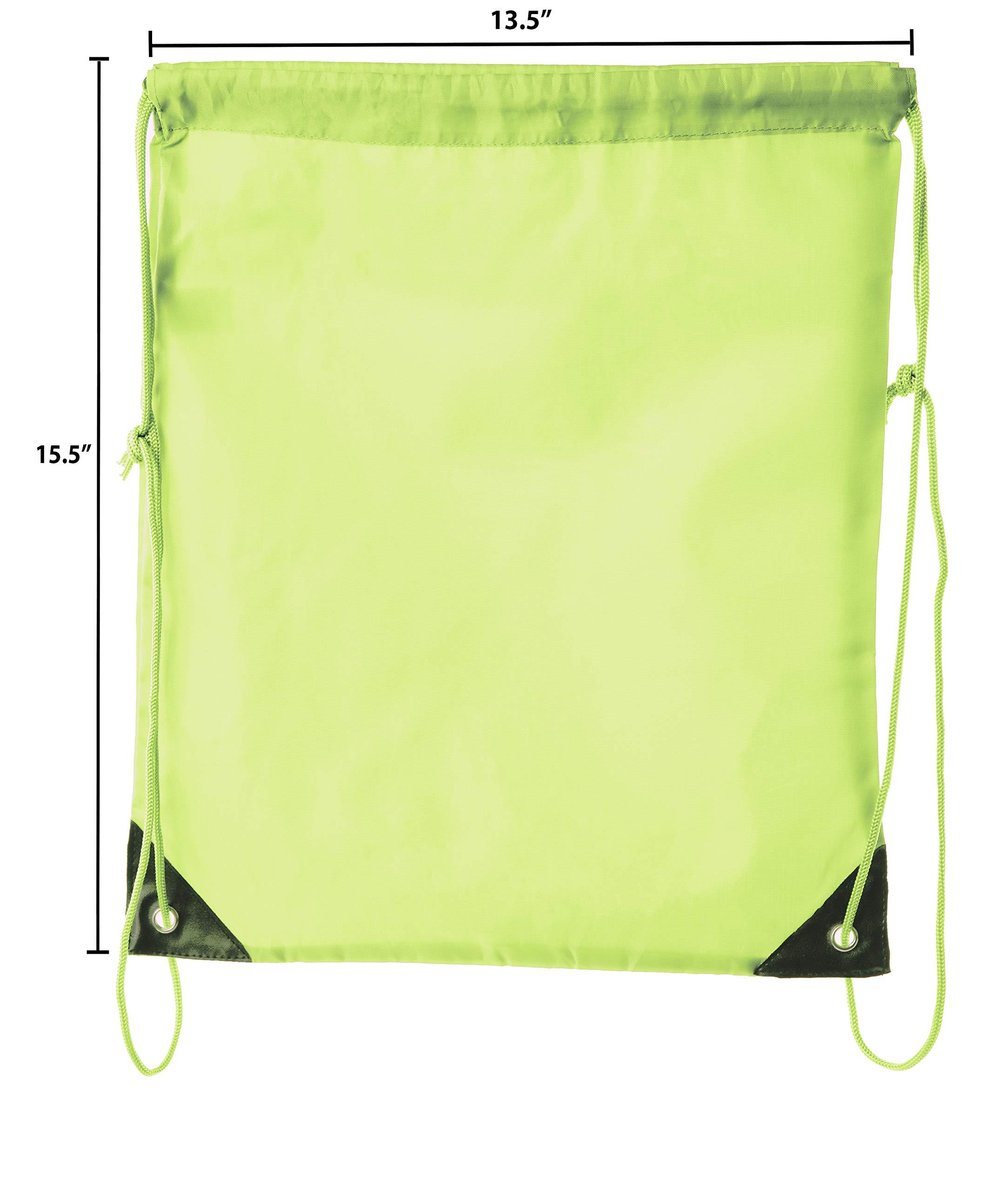 Mato & Hash Drawstring Bulk Bags Cinch Sacks Backpack Pull String Bags   15 Colors   1PK-100PK Available by Mato & Hash (Image #2)