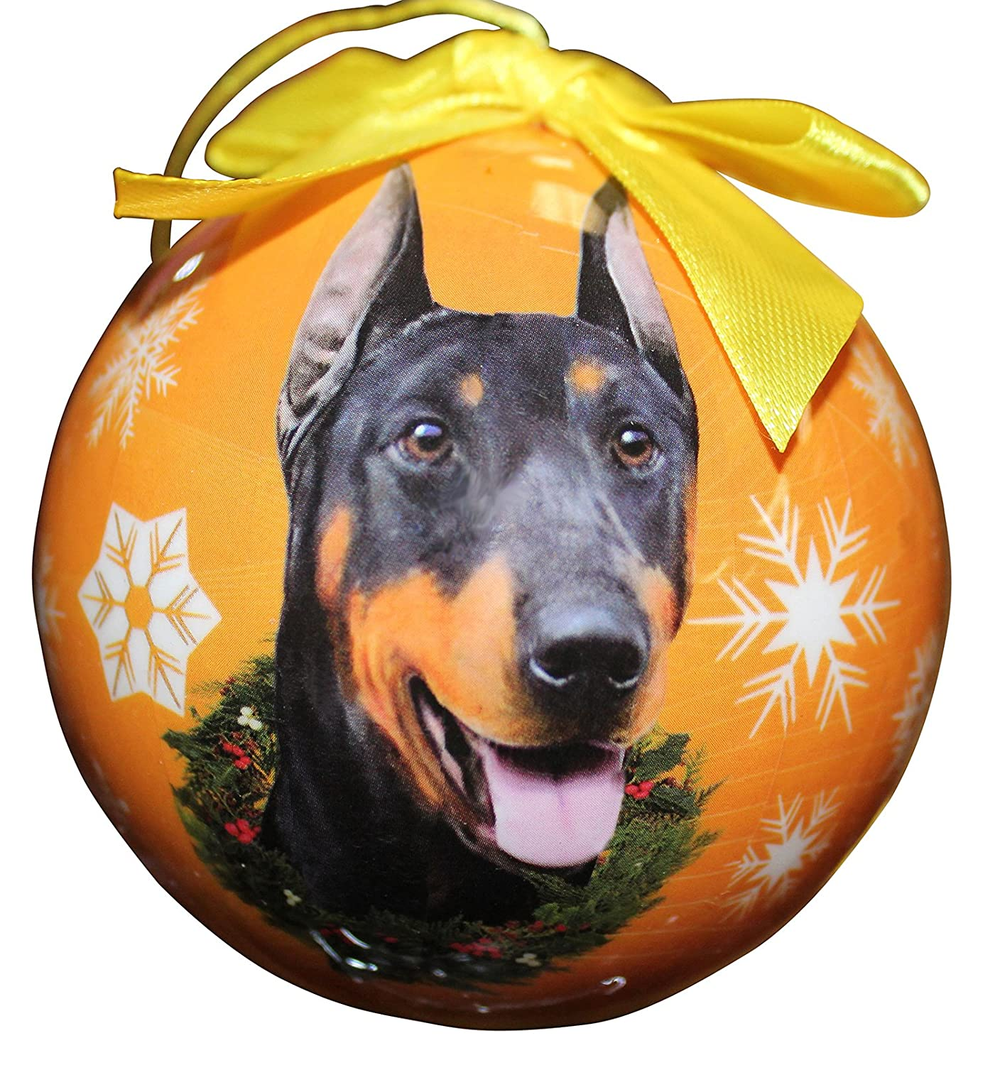 Doberman Christmas Ornament Shatter Proof Ball Easy To Personalize A Perfect Gift For Doberman Lovers E&S Pets