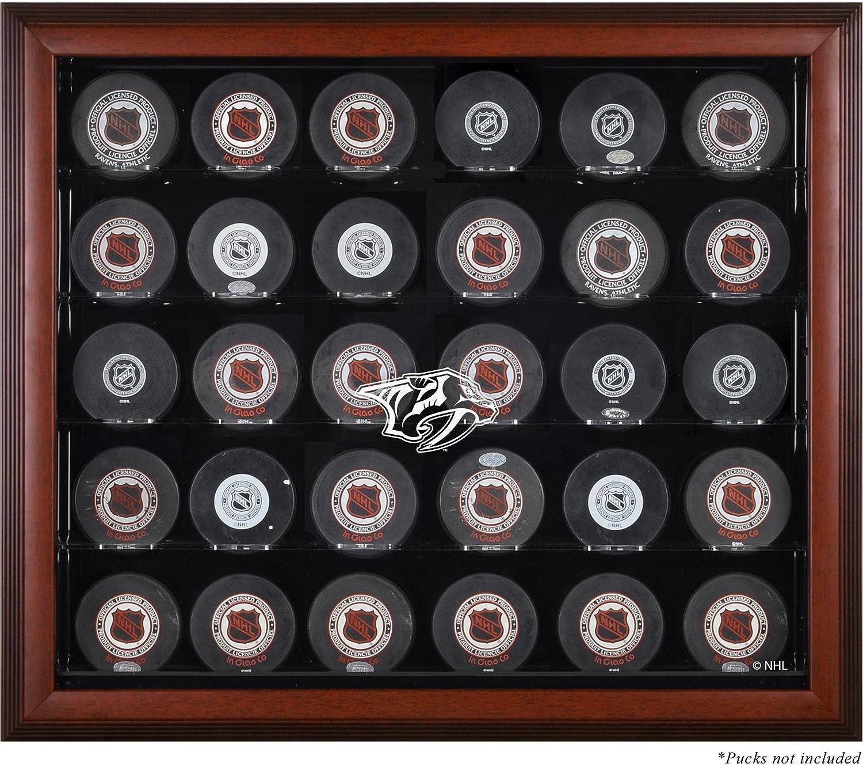 Nashville Predatorsマホガニー額入り30 Hockey Puckロゴ表示ケース B00IIO5BNQ