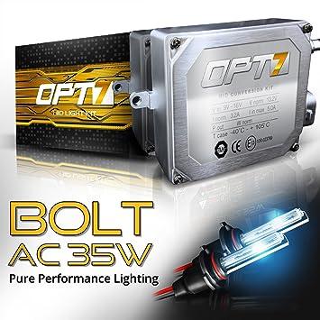 amazon com opt7 bolt 35w ac 9012 hid kit 4x brighter 6x longer rh amazon com