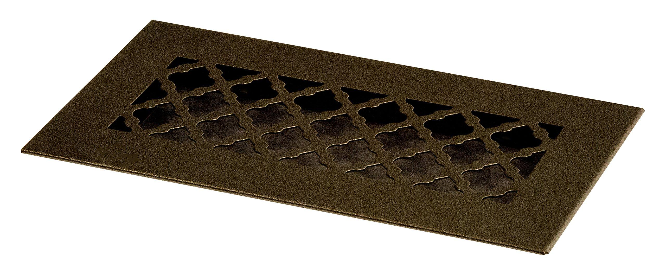 SteelCrest BTU10X4RORBN Bronze Series Designer Floor Vent Cover, Oil Rubbed Bronze by SteelCrest