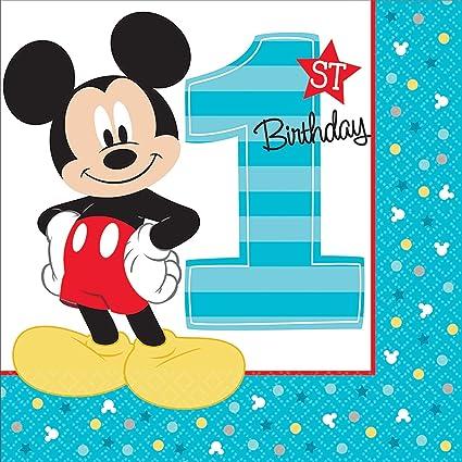 Amazon.com: Mickey Mouse - Servilletas de almuerzo para ...