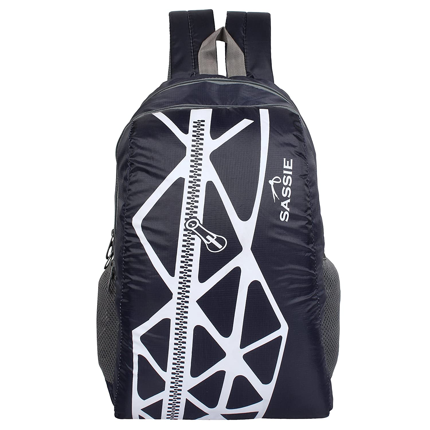 SASSIE Polyester 21Litres Blue School Backpack