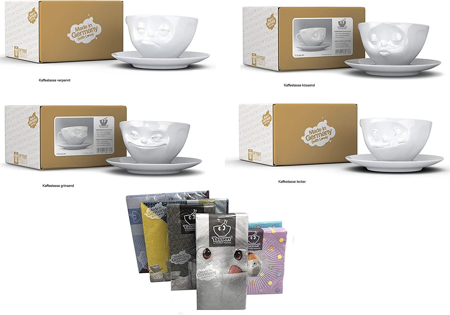 FIFTYEIGHT PRODUCTS Kaffeetassen 2er Set + Servietten, 200