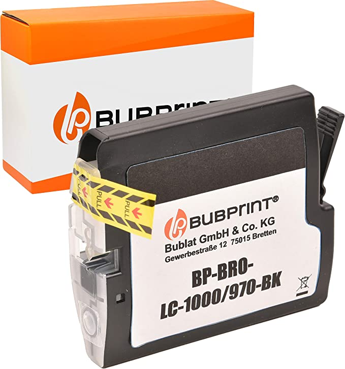 Bubprint Druckerpatrone Kompatibel Für Brother Lc 1000bk Lc 970bk Für Dcp 130c Dcp 135c Dcp 150c Dcp 330c Dcp 350c Dcp 540cn Mfc 235c Mfc 240c Schwarz Bürobedarf Schreibwaren