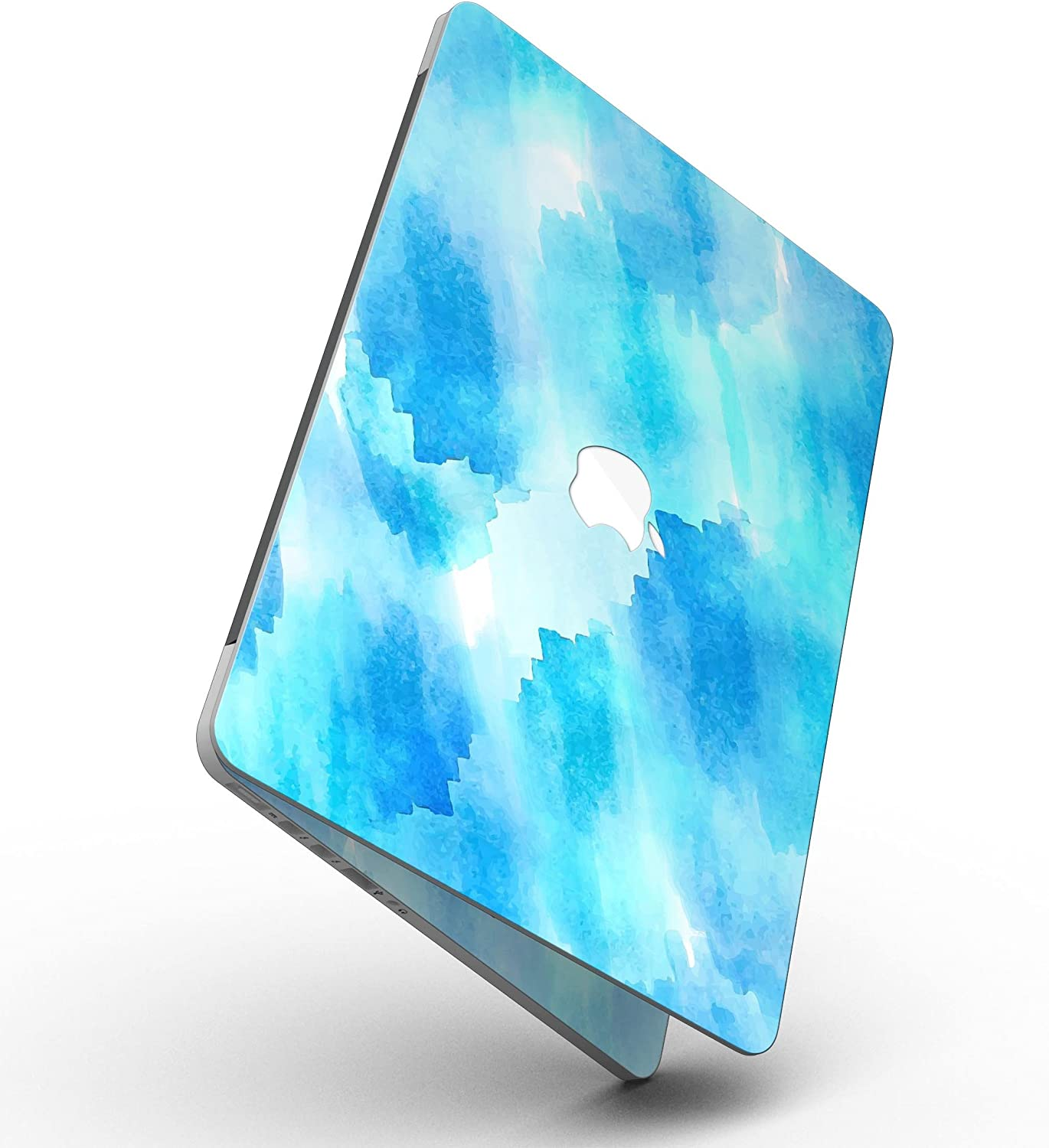 Designskinz-Abstract Blue Stroked Watercolour MacBook Pro with Retina Display Full-Coverage Skin Kit-Screen Trim /& Keyboard Skins//Ultra Gloss-Abstract Blue