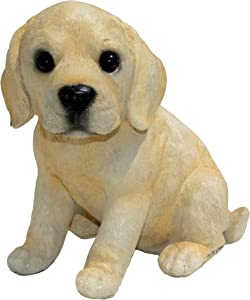 Michael Carr Designs 80103 Yeller Labrador Puppy Statue, Small, Yellow