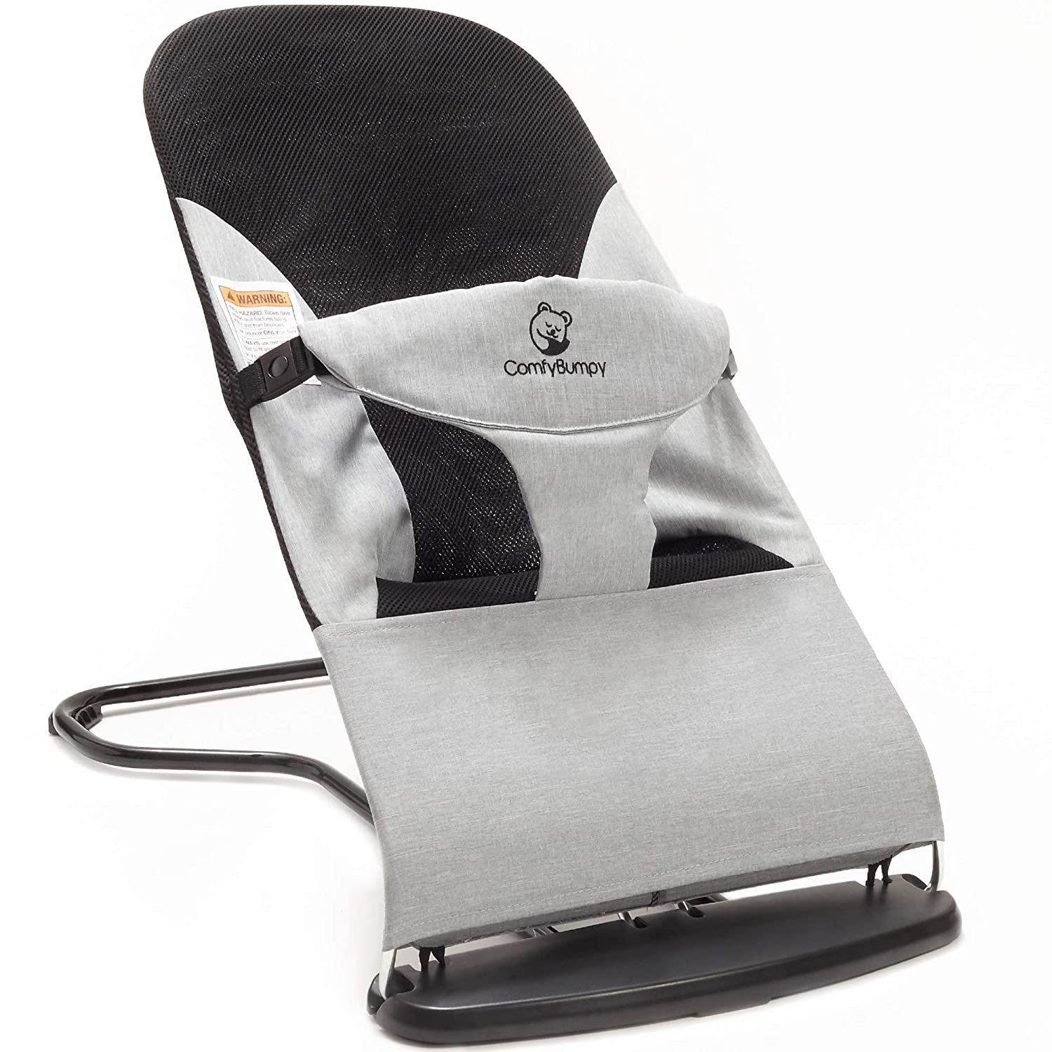 Ergonomic Baby Bouncer Seat - Bonus Travel Carry Case Included - Safe, Portable Rocker Chair with Adjustable Height Positions by ComfyBumpy