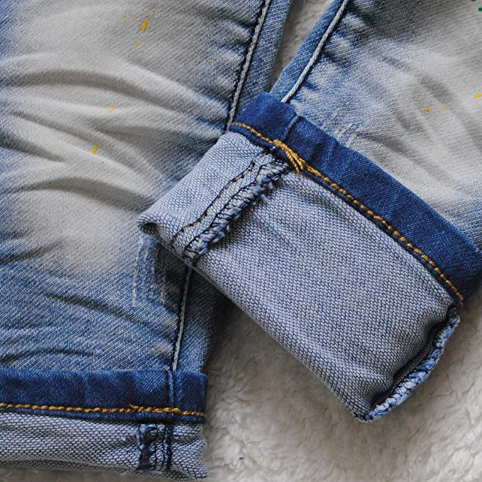 3891 Baby boy Jeans Baby Girls Pants Blue Trousers Casual Pants Kids Child