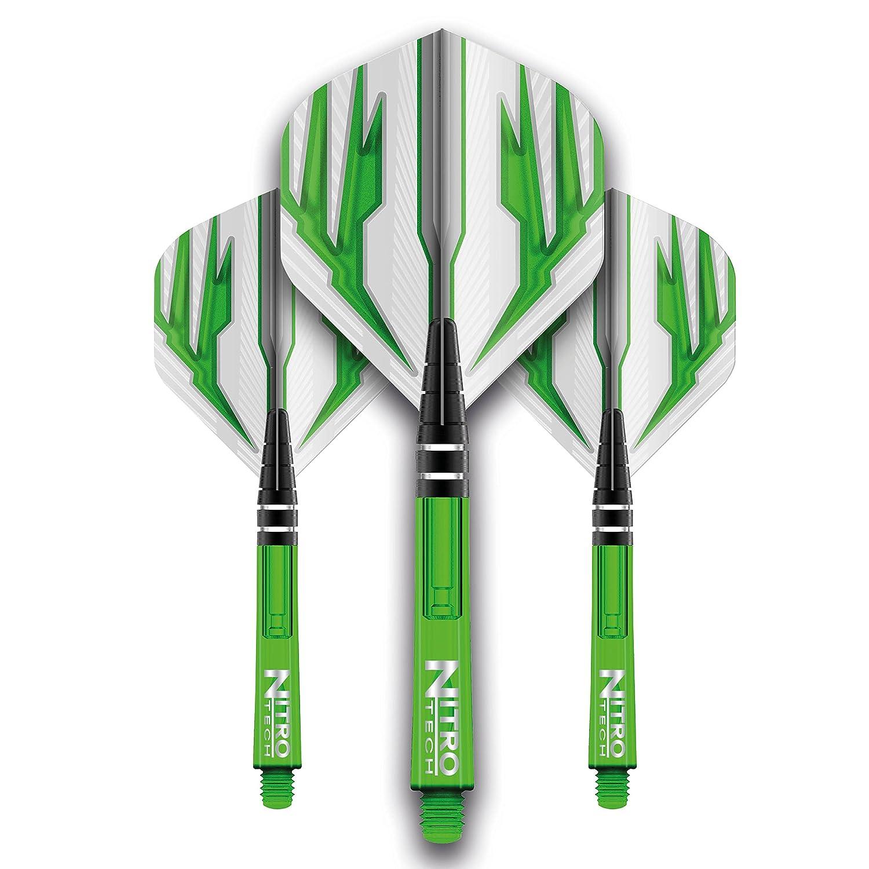 Vuelo Series Dardos De Ejes Combo Y 4 Vuelos Verde H9I2ED
