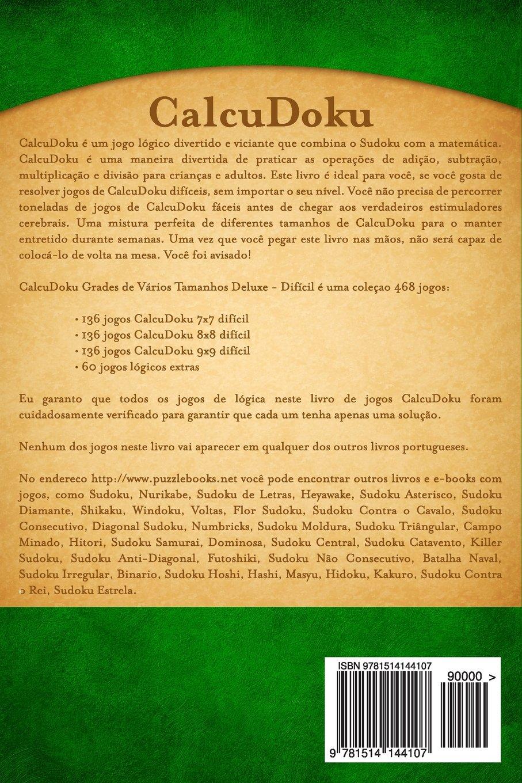 CalcuDoku Grades de Vários Tamanhos Deluxe - Difícil ...
