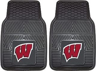 product image for FANMATS NCAA University of Wisconsin Badgers Vinyl Heavy Duty Car Mat