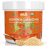 MAJU's Organic Ashwagandha Root Powder - Premium, Non-GMO, Finely Ground, Adaptogenic Boost, Natural Stress-Relief (113 g)