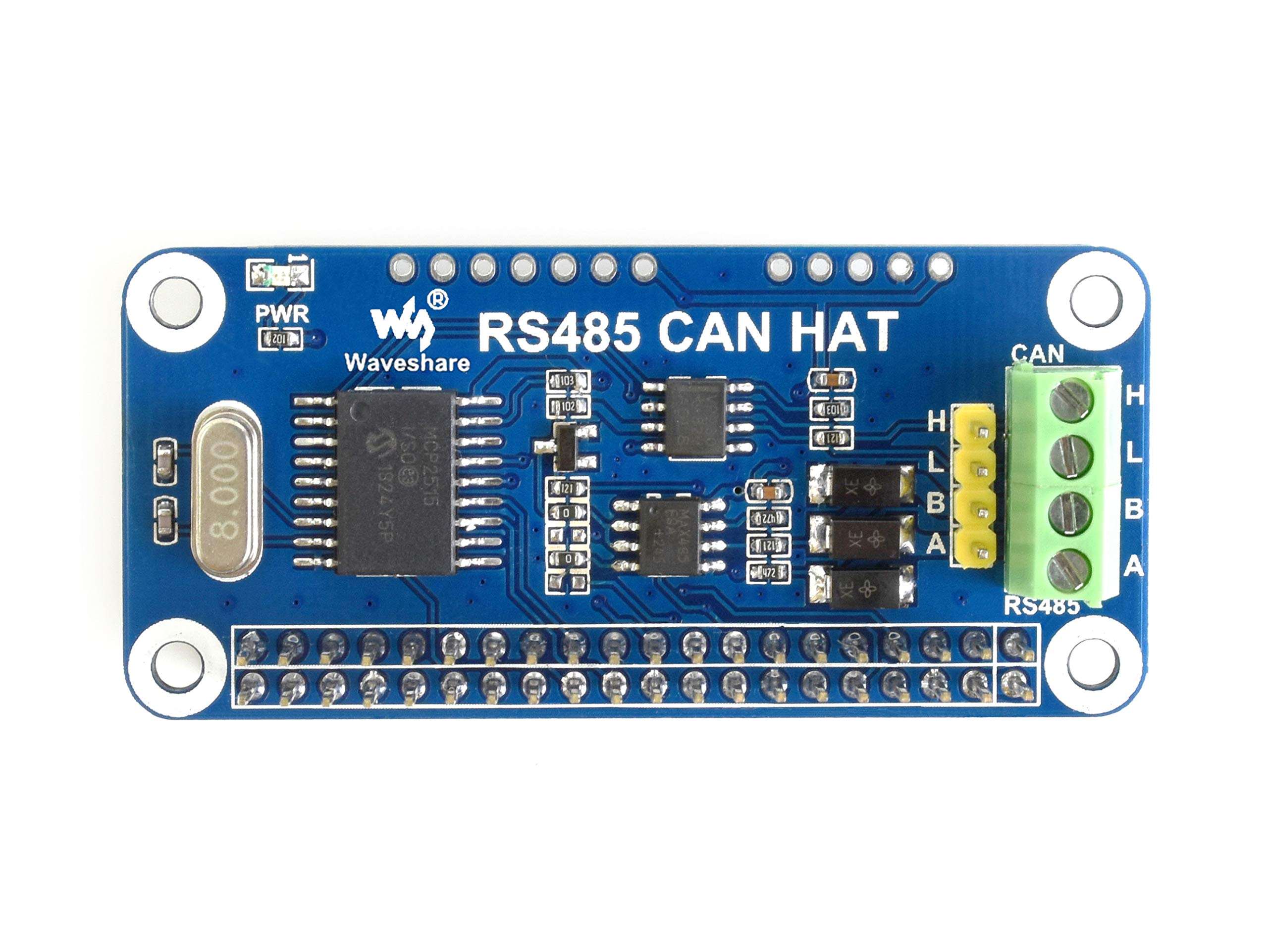 Waveshare RS485 CAN HAT Designed for Raspberry Pi Allowing Stable Long-Distance RS485/CAN Communication