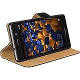 mumbi Ledertasche im Bookstyle für Huawei P8 Lite Tasche (nicht für das P8 Lite Smart)