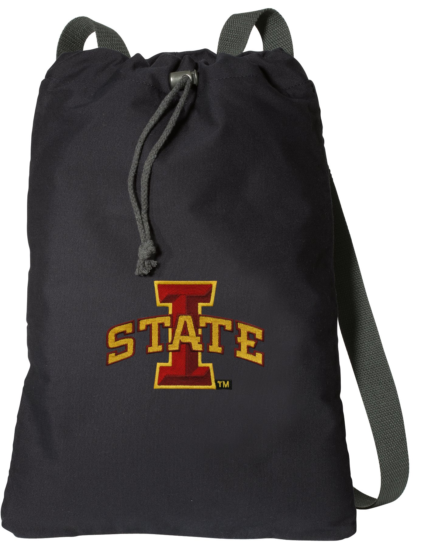 Broad Bay Iowa State Drawstring Backpack Rich Canvas ISU Cyclones Cinch Bag