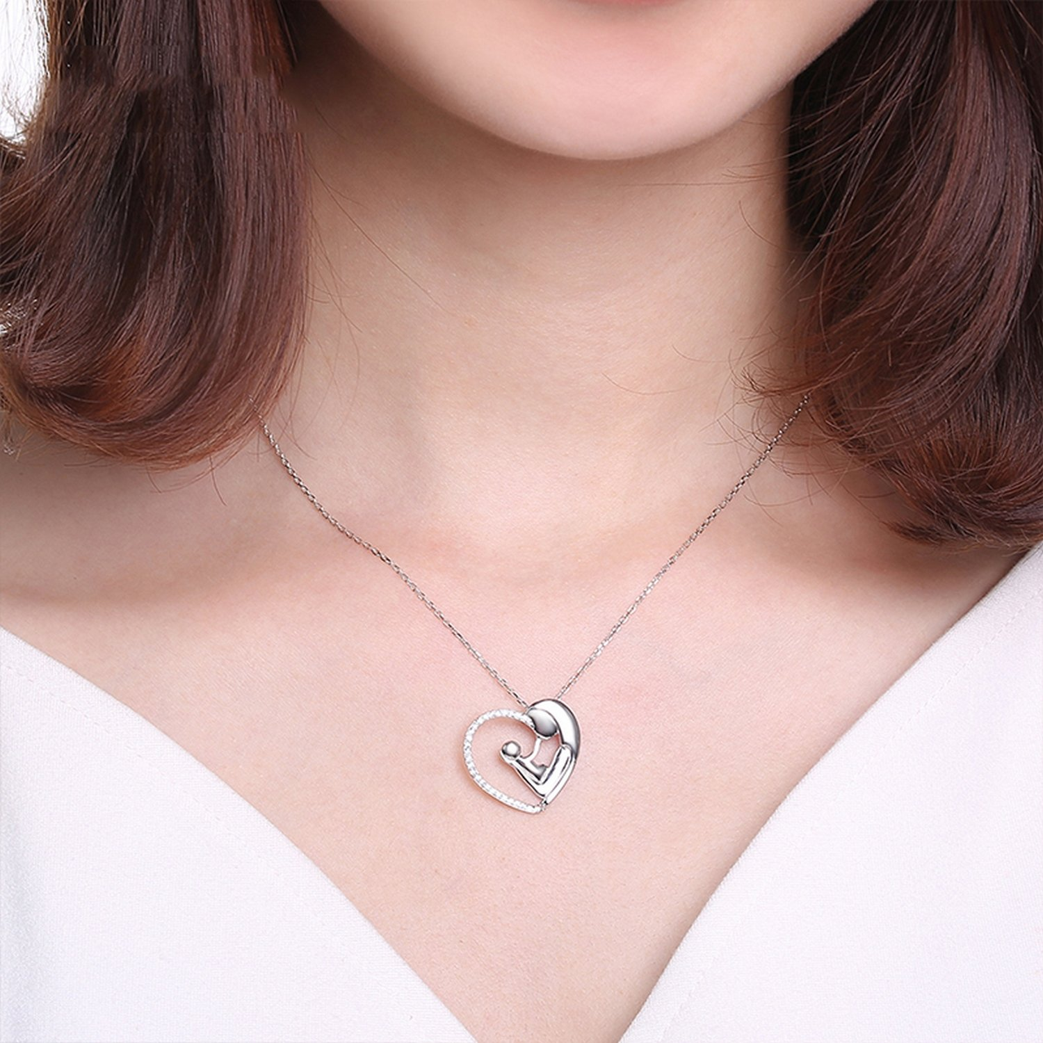 CS-DB Jewelry Silver Anniversary Chain Charm Pendants Necklaces