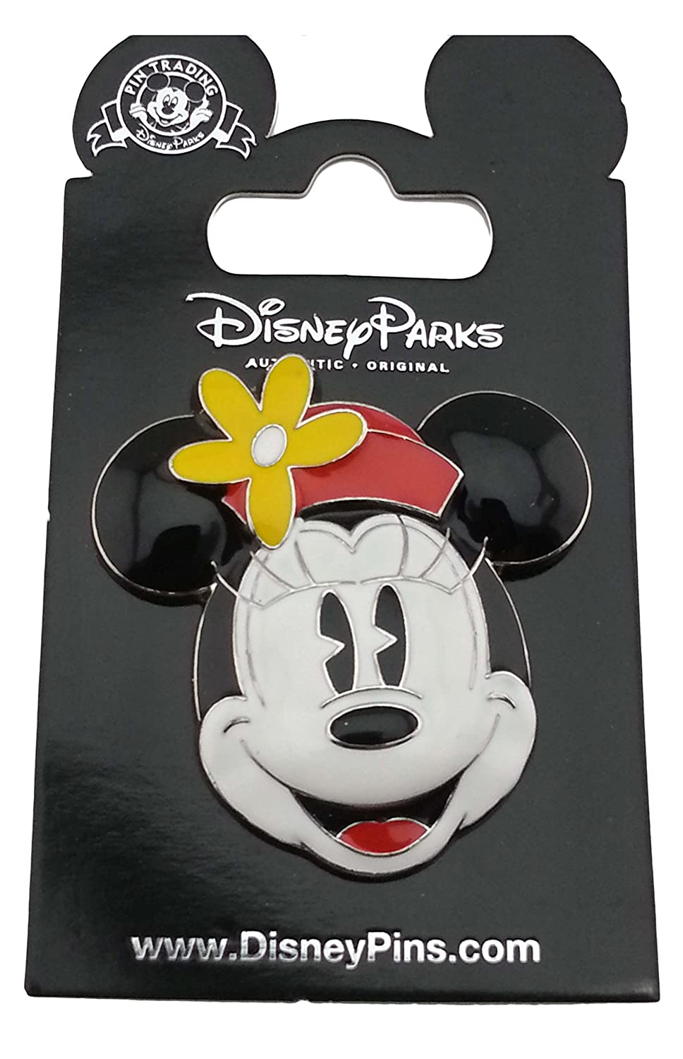 Disney Pin - Minnie Mouse Scuplted Face with red hat