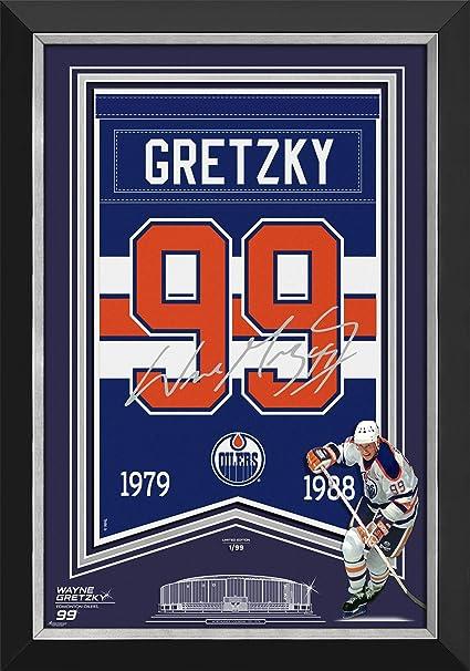 dc38ade3c Amazon.com  Wayne Gretzky Arena Banner Ltd Ed 1 99 - Edmonton Oilers ...