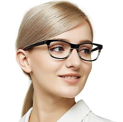 37f86126b566 OCCI CHIARI Women s Fashion Acetate Optical Frames Non-Prescription  Eyeglasses(Black