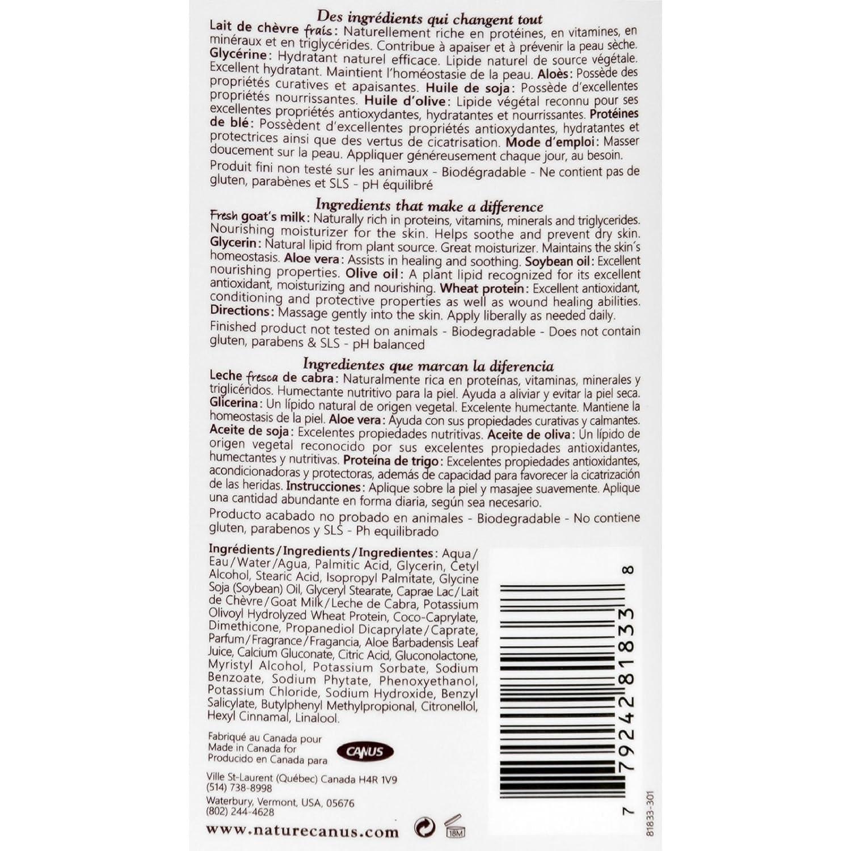 Amazon.com : Nature By Canus Lotion - Goats Milk - Nature - Olive Oil Wht Prot - 11.8 oz : Beauty