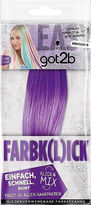 got2b Farbk(l) ick Crazy Lila - Clip de clip, 1 unidad, color lila
