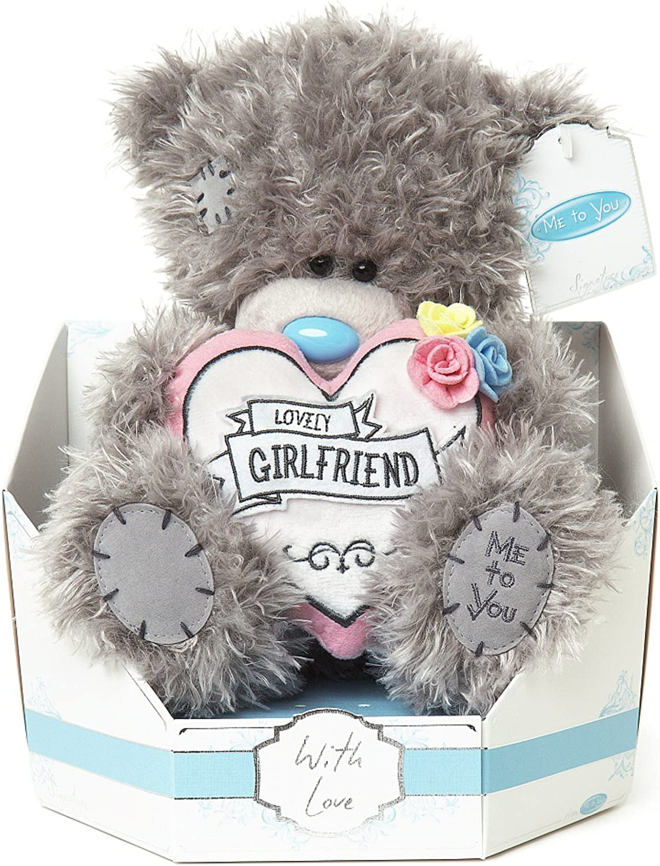 Me To You Oso de Peluche Tatty para Novias SG01W4110 de la Colección Signature, Sentado y con un corazón Rosa de 23 cm de Alto: Amazon.es: Juguetes y juegos