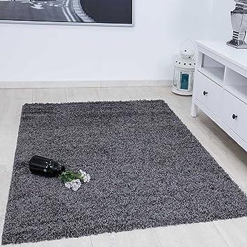 Vimoda Prime Shaggy Teppich Farbe Anthrazit Hochflor Langflor