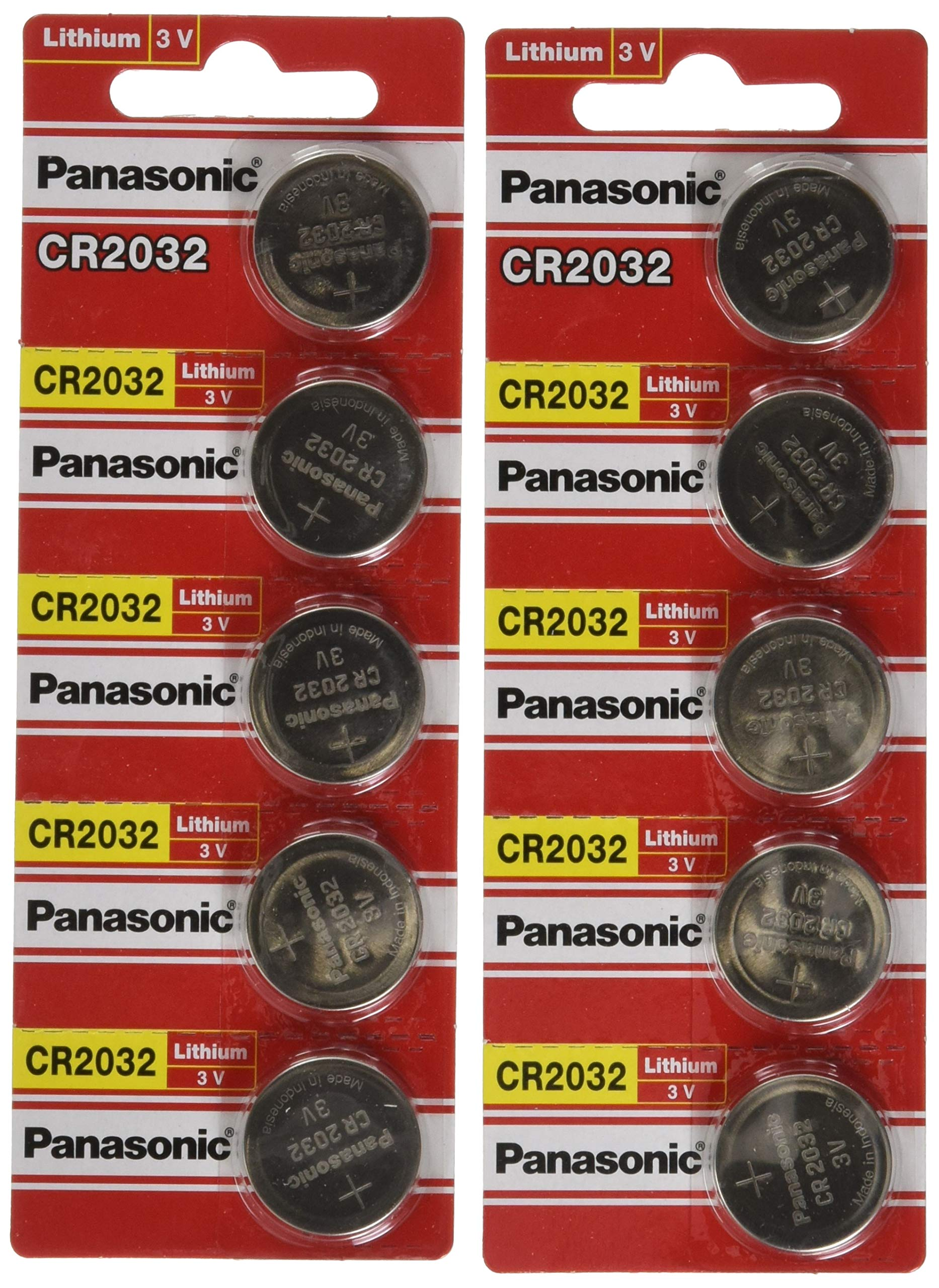 Amazon Com Panasonic Cr2025 10 Cr2025 3v Lithium Coin