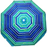 7.5 ft. Deluxe Beach Umbrella UPF 100 with Tilt / Air Vent