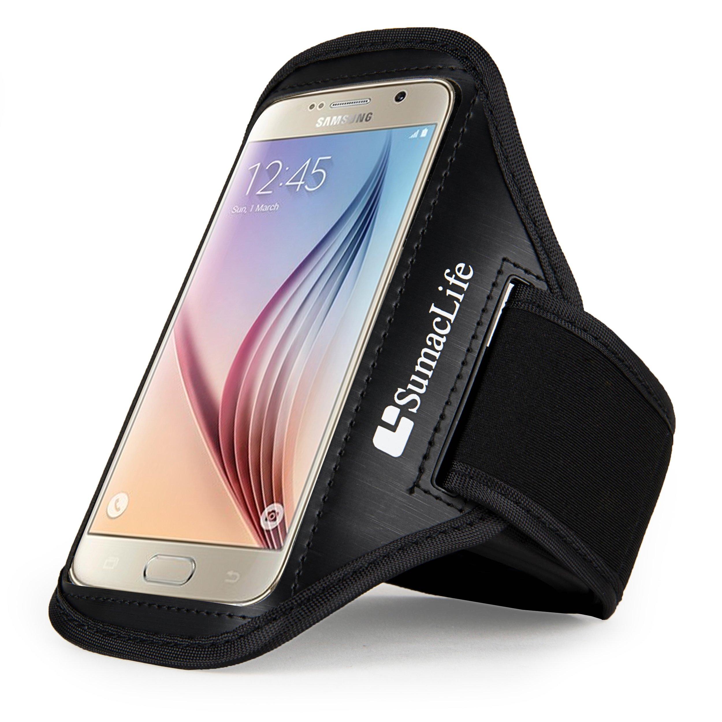 Sumaclife Fashion Sports Series Cellphone Armband Armlet for Samsung Galaxy S6 Edge Plus/ Note5/ Note Edge/ Sony Xperia Z3/ Microsoft Lumia 640 XL/ LG G4/ G Vista/ G Stylo/ G Vista (Black)