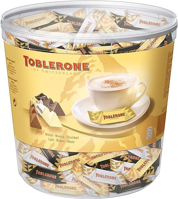Toblerone Minis Mix Box Milk White Dark 900g
