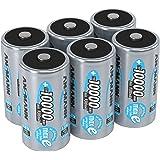 ANSMANN LSD Mono D Akkubatterie  1 2 V / Typ 10000mAh / Hochkapazitiver NiMH Akku mit konstant hoher Leistungsabgabe & Langlebigkeit - ideal für Geräte mit hohem Stromverbrauch  6 Stück