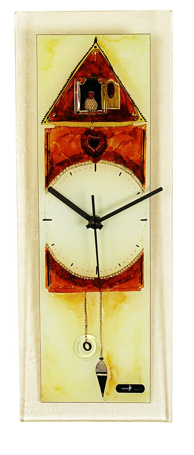 amazoncom river city clocks rectangle glass wall clock with  - amazoncom river city clocks rectangle glass wall clock with cuckoodesign home  kitchen