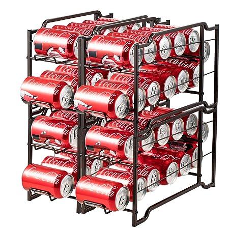 Nandae Organizador de latas apilables, Paquete de 4 Dispensador de ...